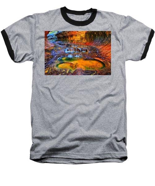 Zion Subway Falls Baseball T-Shirt