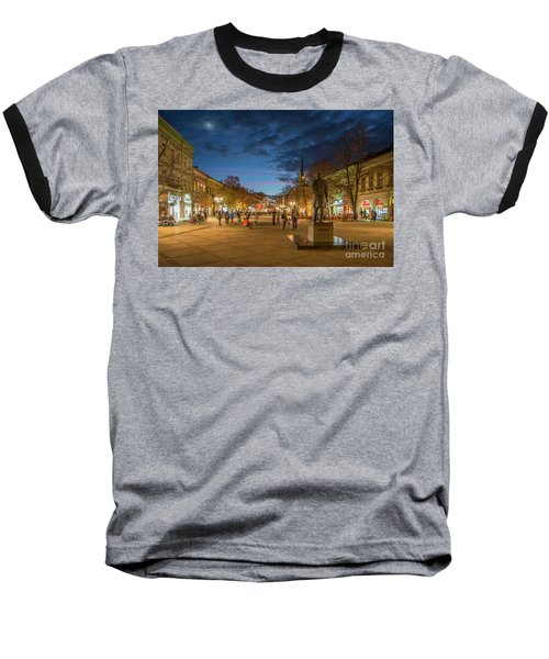 Zmaj Jovina Street In Moonlight Baseball T-Shirt