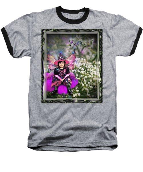 Zoey Baseball T-Shirt by Susan Kinney