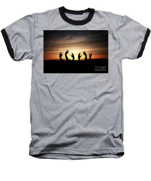Zombie Apocalypse Baseball T-Shirt