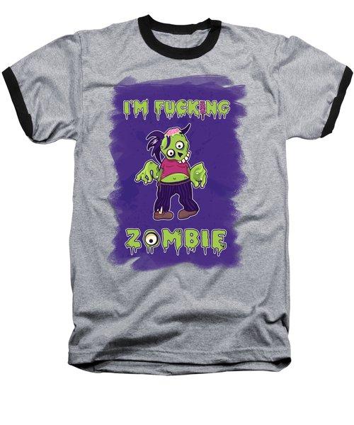 Baseball T-Shirt featuring the digital art Zombie by Julia Art