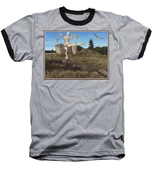 Zombie Near The Ruins Baseball T-Shirt