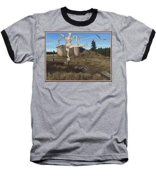 Zombie Near The Ruins Baseball T-Shirt
