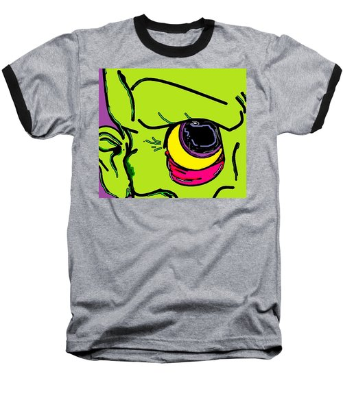 Baseball T-Shirt featuring the digital art Zombie by Yshua The Painter