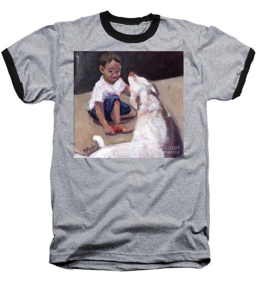 Zoom Groom Baseball T-Shirt by Molly Poole