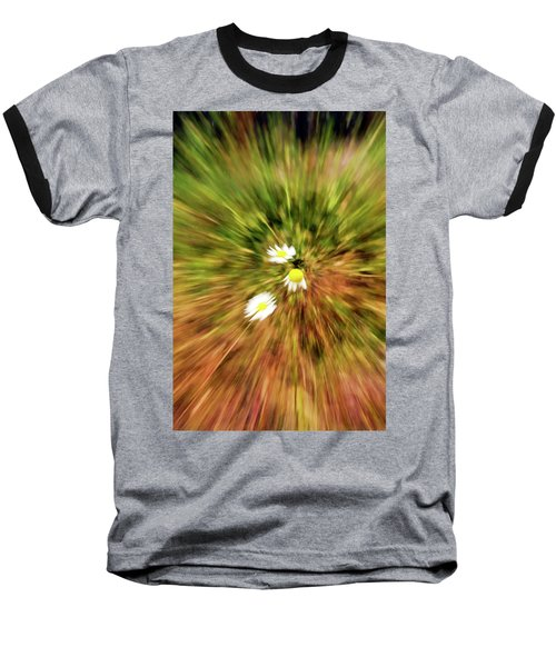 Baseball T-Shirt featuring the digital art Zooming In Or Zooming Out by James Steele
