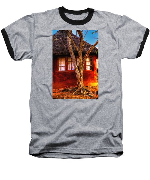 Baseball T-Shirt featuring the photograph Zulu Hut by Rick Bragan