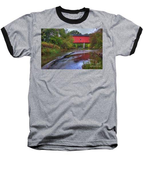 Zumbrota Minnesota Historic Covered Bridge 5 Baseball T-Shirt