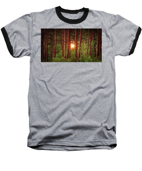 010 - Pine Sunset Baseball T-Shirt