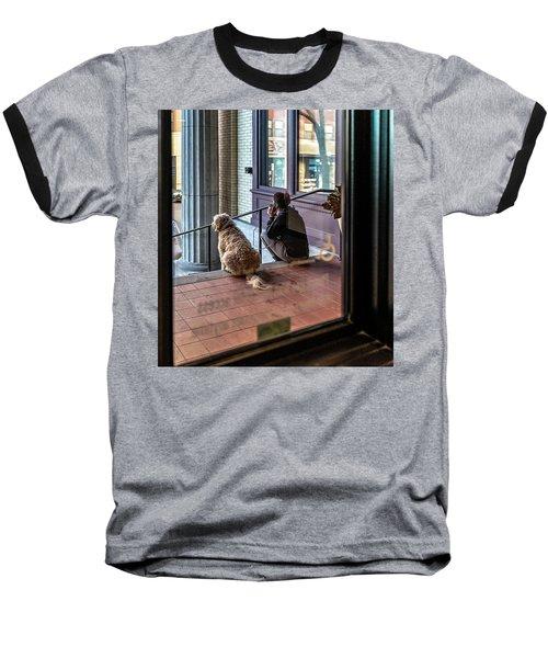 018 - Girl And Dog Baseball T-Shirt