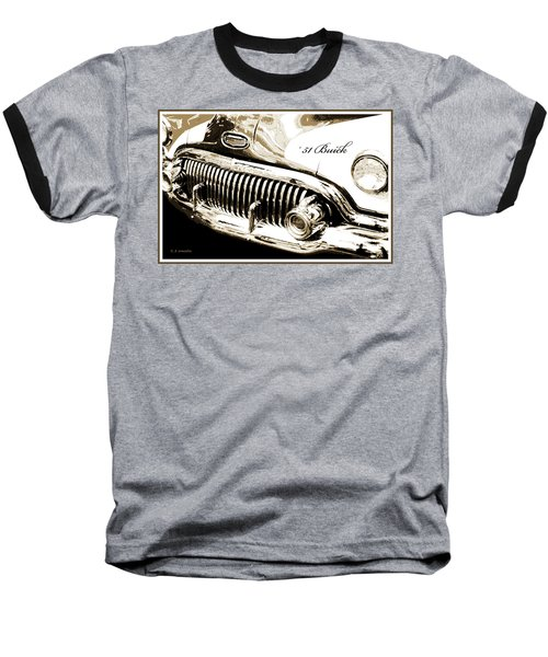 1951 Buick Super, Digital Art Baseball T-Shirt