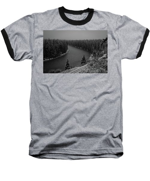 A View From The Side Of The Bow Valley Parkway, Banff National P Baseball T-Shirt