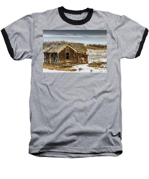 Abondened Old Farm Houese And Estates Dot The Prairie Landscape, Baseball T-Shirt