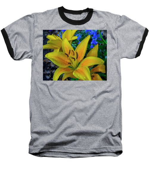 Asiatic Lily Baseball T-Shirt