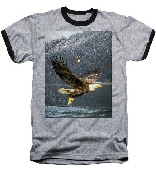Bald Eagle With Catch Baseball T-Shirt