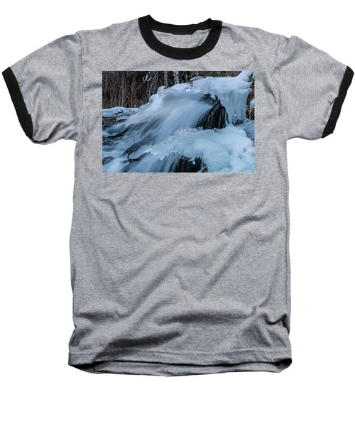 Big Hills Springs Under Snow And Ice, Big Hill Springs Provincia Baseball T-Shirt