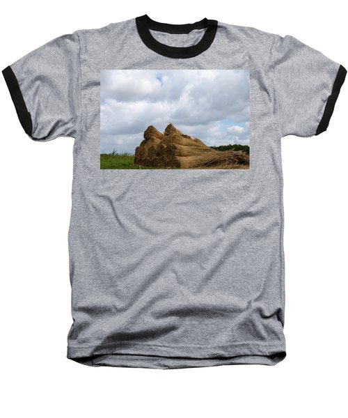 Baseball T-Shirt featuring the photograph Bound Reeds  by Anjo Ten Kate