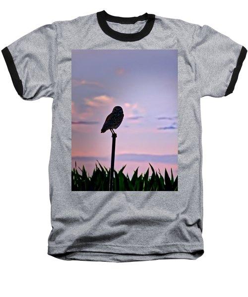 Burrowing Owl On A Stick Baseball T-Shirt