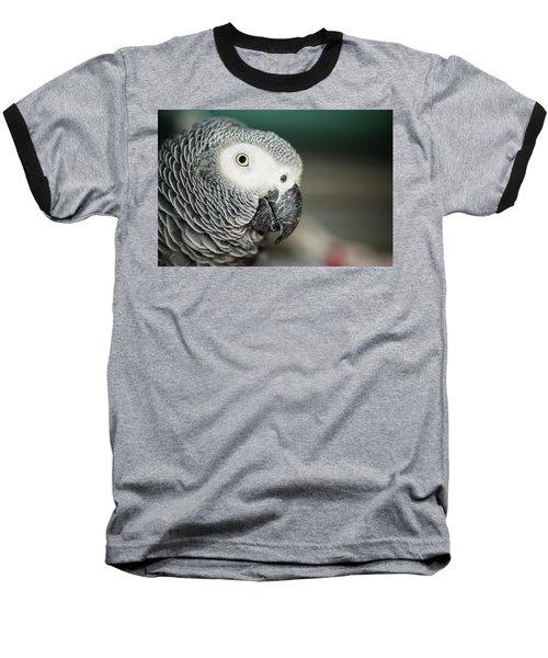 Close Up Of An African Grey Parrot Baseball T-Shirt