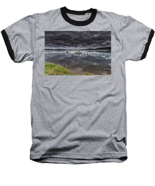 Early Morning Clouds And Reflections On The Bay Baseball T-Shirt