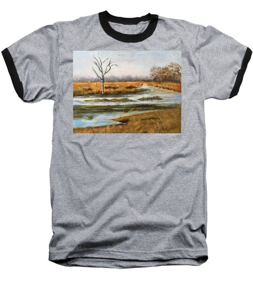 Early Spring On The Marsh Baseball T-Shirt