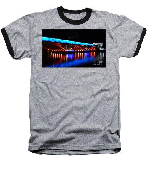 Evening View Of The Love River And Illuminated Bridge Baseball T-Shirt