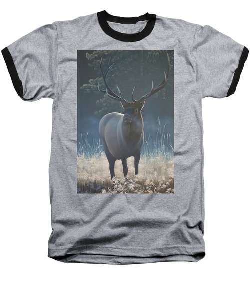 First Light - Bull Elk Baseball T-Shirt