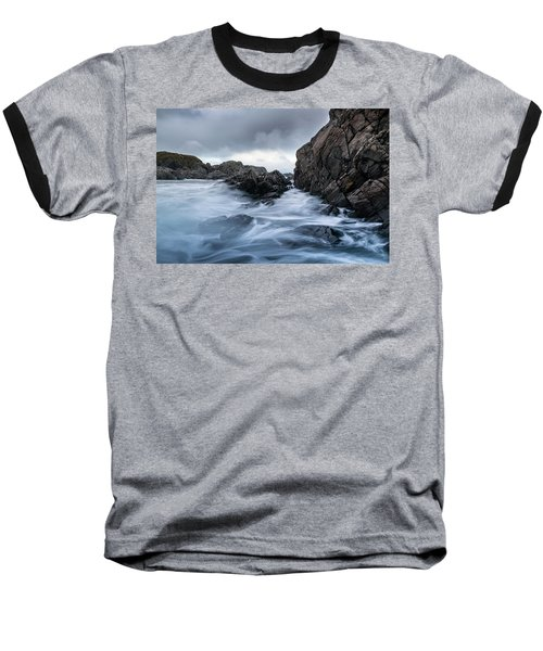 Frozen Stream In Winter Forest Baseball T-Shirt
