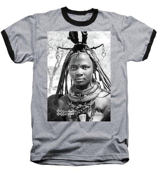 Himba Girl Baseball T-Shirt