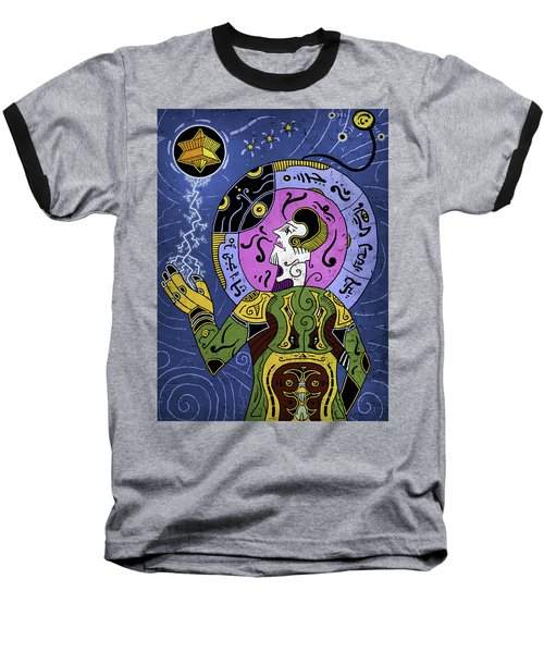 Baseball T-Shirt featuring the digital art Incal by Sotuland Art