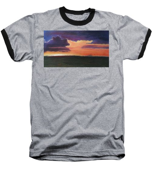 Marsh Sunset Baseball T-Shirt