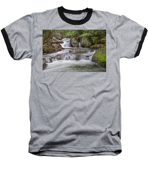 Baseball T-Shirt featuring the photograph On The Trail To Cascade Falls by James Woody