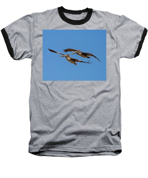 Baseball T-Shirt featuring the photograph Outer Banks Pelicans by Lora J Wilson