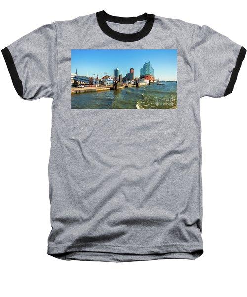 Panoramic View Of Hamburg. Baseball T-Shirt