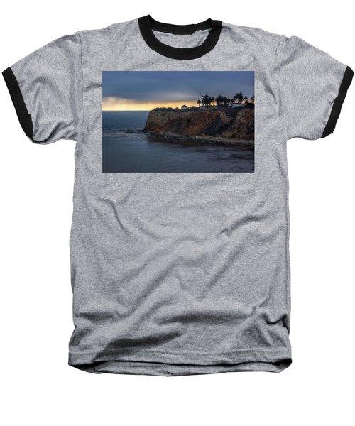 Point Vicente Lighthouse At Sunset Baseball T-Shirt