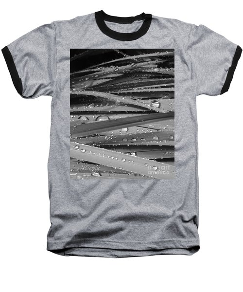Rain On Siberian Iris Baseball T-Shirt