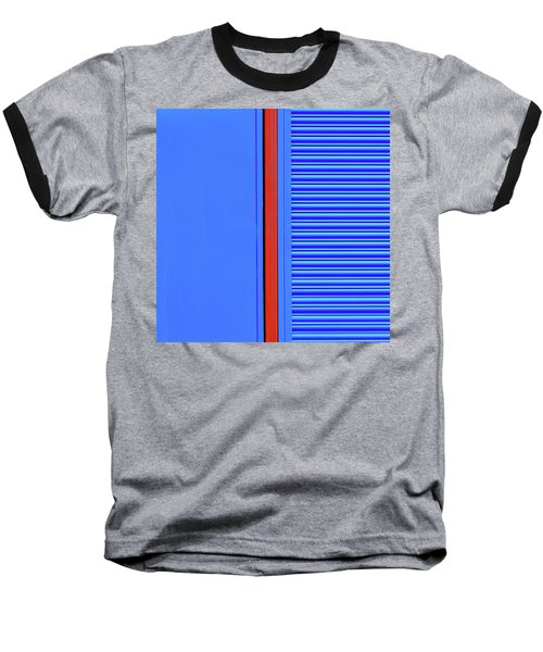 Blue With Red Stripe Baseball T-Shirt