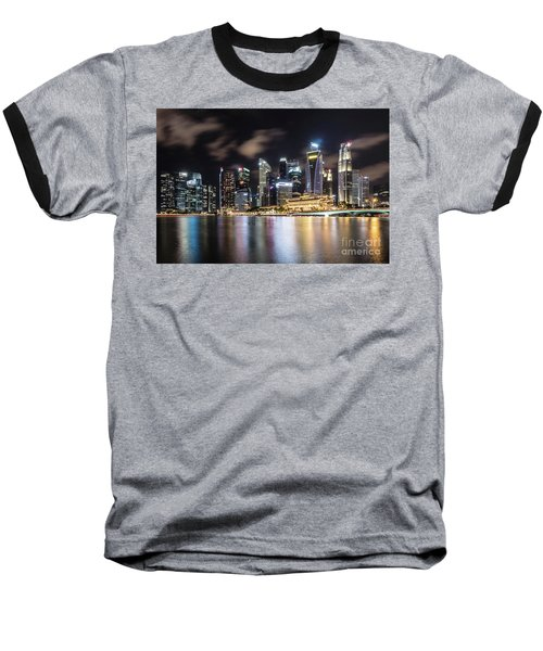 Singapore By Night Baseball T-Shirt