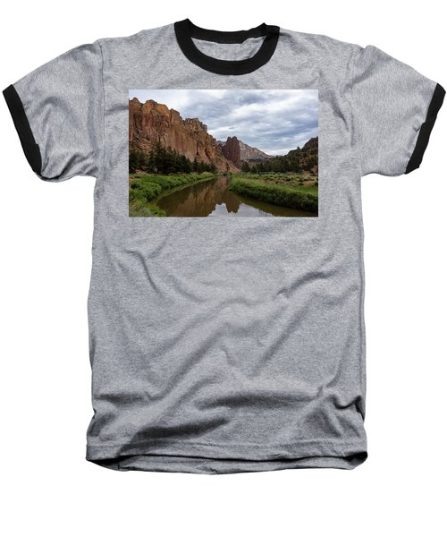 Smith Rock Reflections Baseball T-Shirt