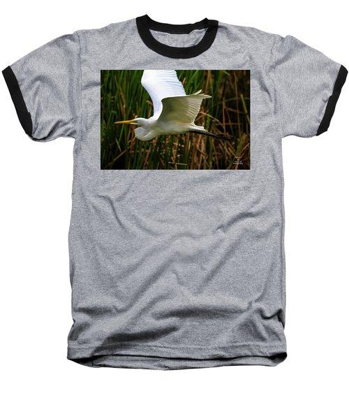 Snow White In Flight Baseball T-Shirt