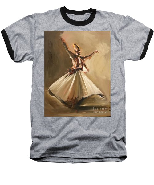 Baseball T-Shirt featuring the painting Sufi by Nizar MacNojia