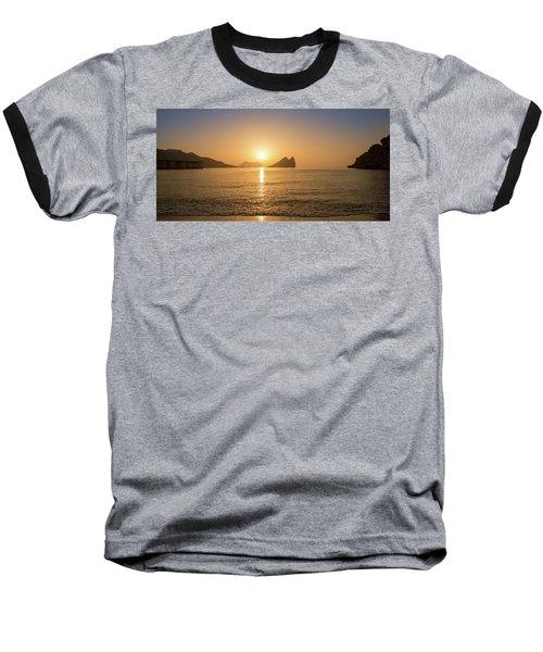Sunrise On A Beach In Aguilas, Murcia Baseball T-Shirt