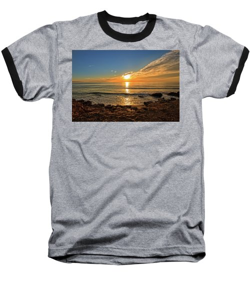 The Calm Sea In A Very Cloudy Sunset Baseball T-Shirt