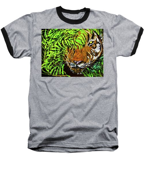 Tiger In Bamboo Baseball T-Shirt