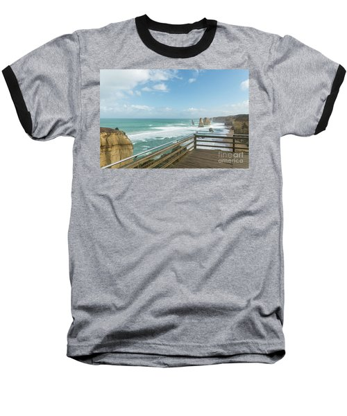 Twelve Apostles Sea Rocks Baseball T-Shirt