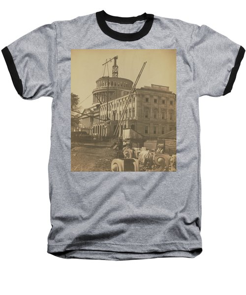 United States Capitol Under Construction Baseball T-Shirt