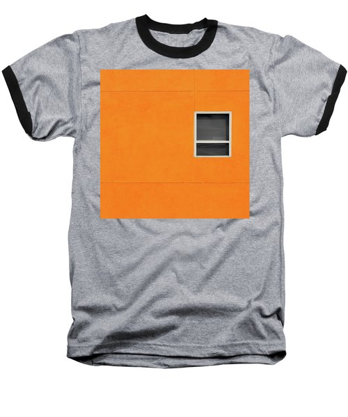 Very Orange Wall Baseball T-Shirt