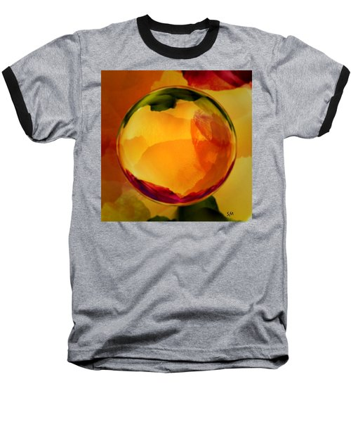 Watercolor Glass Marble  Baseball T-Shirt