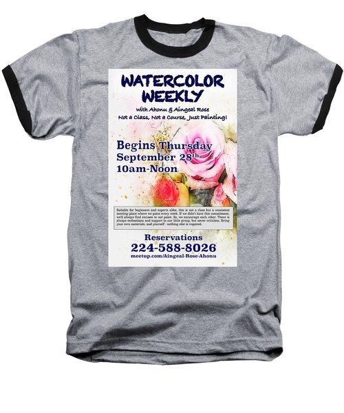 Watercolor Weekly Baseball T-Shirt