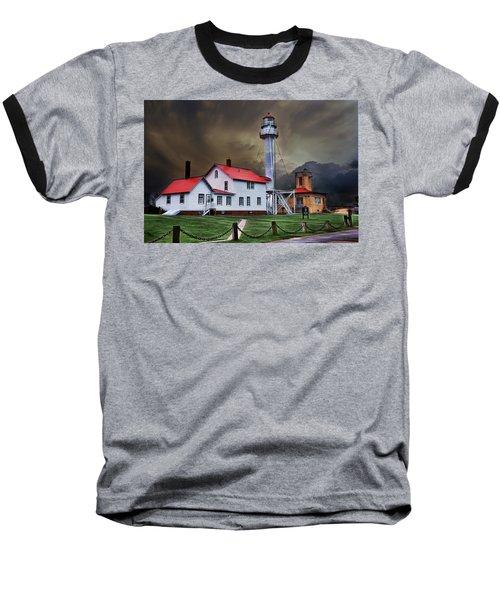 Whitefish Point Lighthouse Baseball T-Shirt